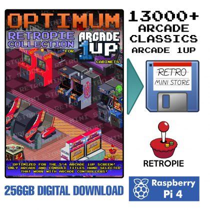 Digital Download – Arcade 1UP Optimum 256GB Retropie microSD – 13,000+ Selected Games Preloaded for Raspberry Pi 4