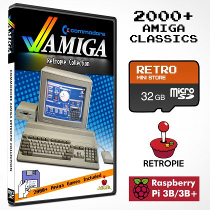 Commodore Amiga Retropie Collection 32GB microSD – 2000+ Games Preloaded for Raspberry Pi 3B/3B+