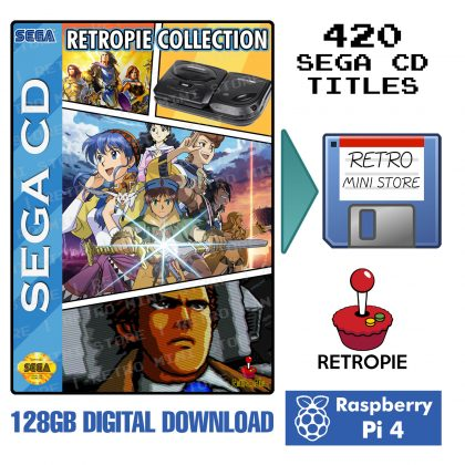 Digital Download – SEGA CD Complete Collection 128GB Retropie microSD – 400+ Games Preloaded Raspberry Pi 4