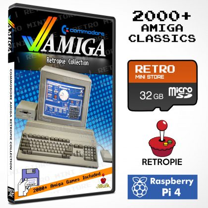 Commodore Amiga Retropie Collection 32GB microSD – 2000+ Games Preloaded for Raspberry Pi 4 & Pi 400
