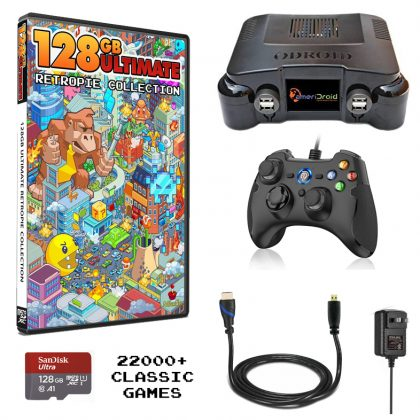 Deluxe Odroid XU4 Console Bundled With The Ultimate 128 Collection and 1 USB Controller